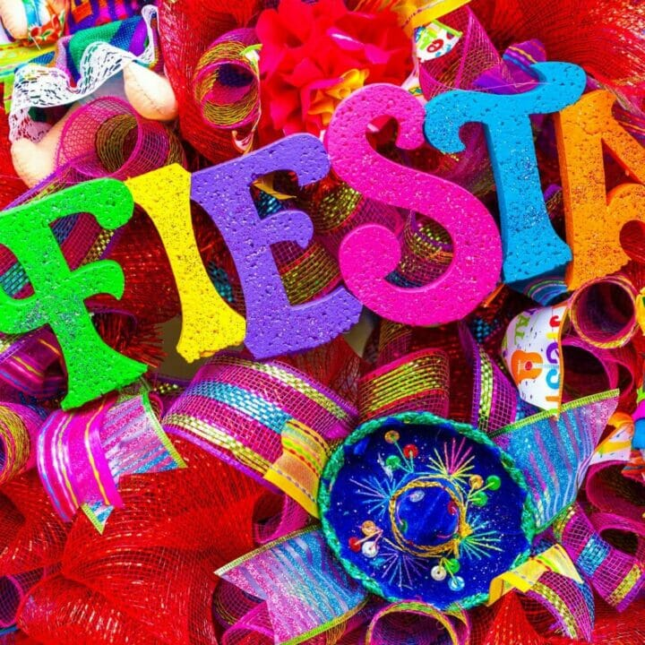 colorful image of party ribbons